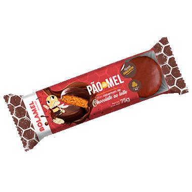 PÃO DE MEL COM COBERTURA DE CHOCOLATE - 75g